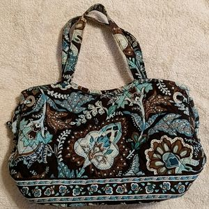 Vera Bradley Mini-tote Purse in Retired Java Blue